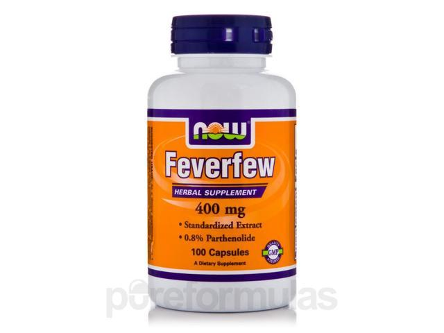 Feverfew 400 mg - 100 Veg Capsules by NOW
