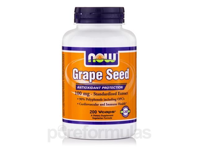 Grape Seed 100 mg - 200 Veg Capsules by NOW