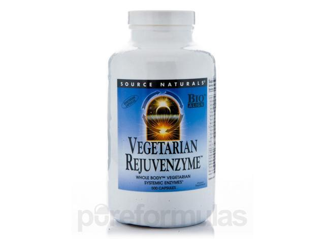 Vegetarian Rejuvenzyme - 500 Capsules by Source Naturals