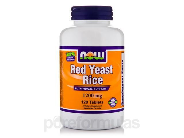 Red Yeast Rice 1200 mg - 120 Tablets by NOW