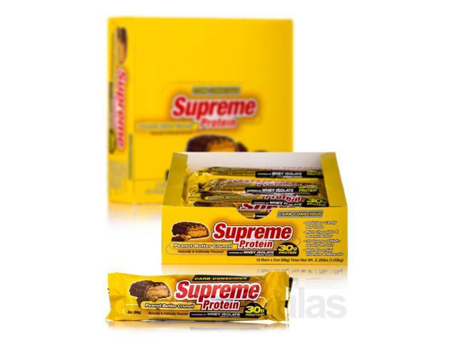 Supreme Protein Bar Peanut Butter Crunch - Box of 12 Bars by Supreme Protein