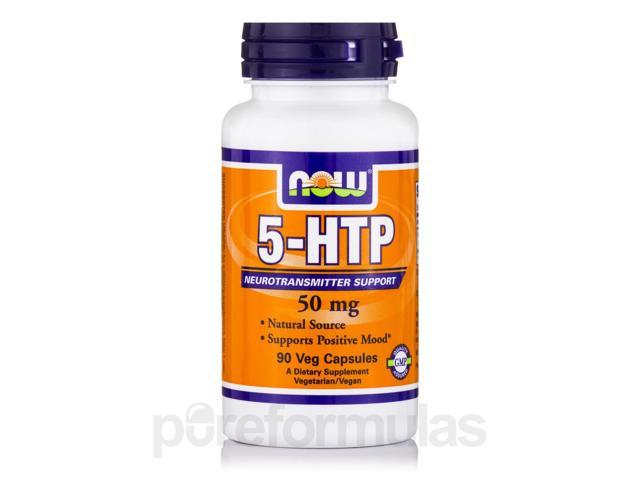 5-HTP 50 mg - 90 Veg Capsules by NOW