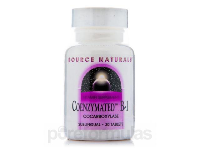 Coenzymated B-1 Sublingual 25 mg - 30 Tablets by Source Naturals