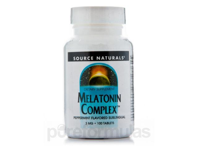 Melatonin Complex Sublingual Peppermint - 100 Tablets by Source Naturals