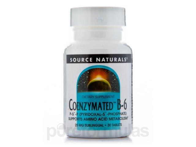 Coenzymated B-6 Sublingual 25 mg - 30 Tablets by Source Naturals