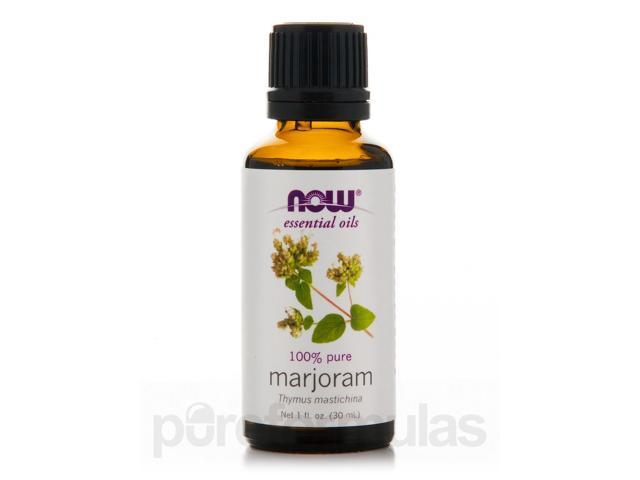 NOW Essential Oils - Marjoram Oil - 1 fl. oz (30 ml) by NOW
