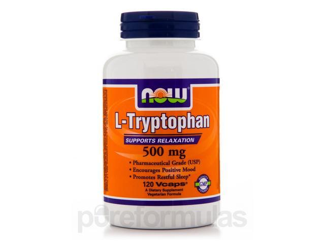 L-Tryptophan 500 mg - 120 Veg Capsules by NOW