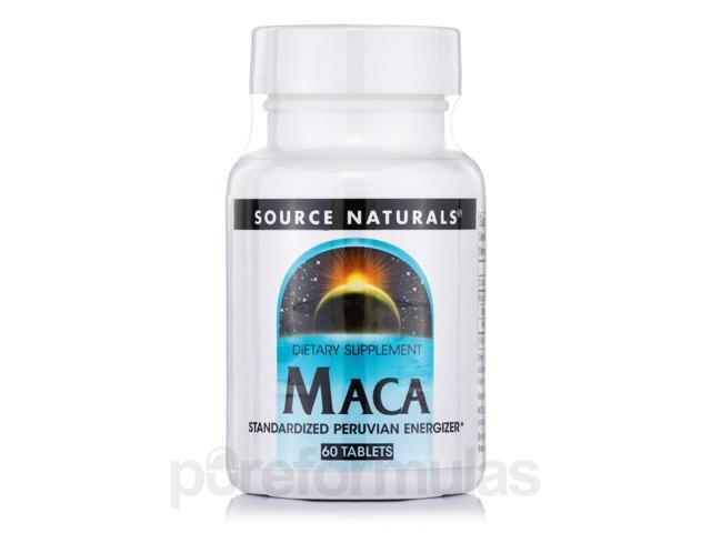 Maca Standardized Peruvian Energizer - 60 Tablets by Source Naturals