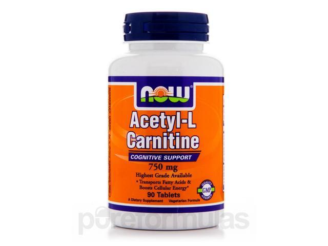Acetyl-L-Carnitine 750 mg - 90 Tablets by NOW