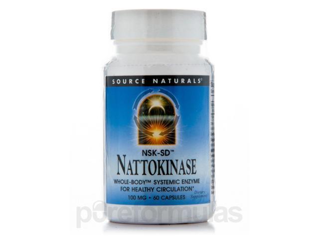 Nattokinase 100 mg - 60 Capsules by Source Naturals