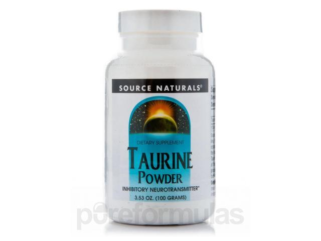 L-Taurine Powder - 3.53 oz (100 Grams) by Source Naturals