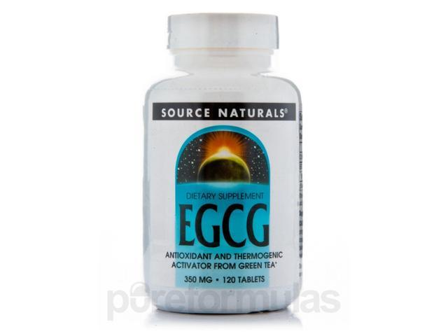 EGCG 350 mg - 120 Tablets by Source Naturals