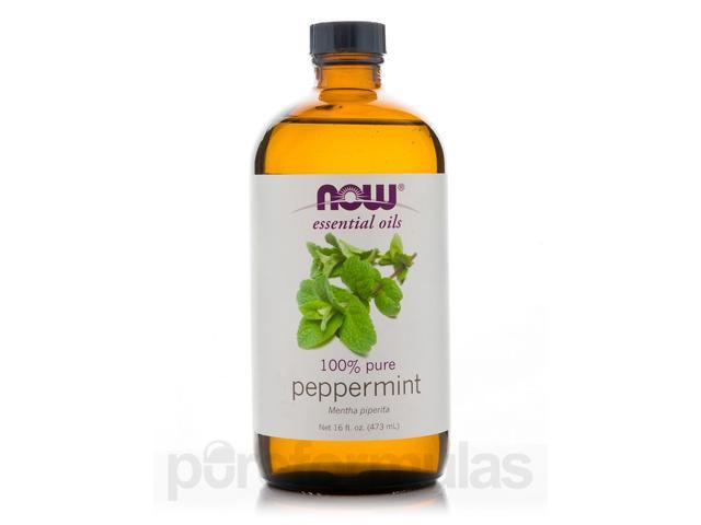 NOW? Essential Oils - Peppermint Oil (100% Pure) - 16 fl. oz (473 ml) by NOW