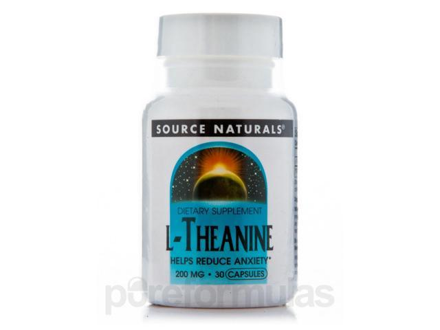L-Theanine 200 mg - 30 Capsules by Source Naturals