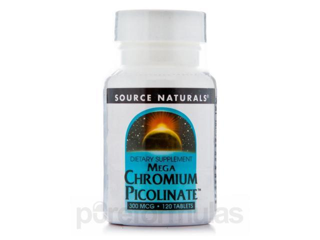 Chromium Picolinate 300 mcg - 120 Tablets by Source Naturals