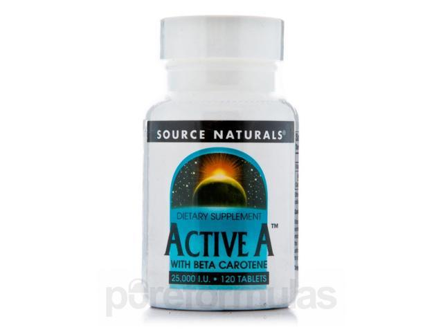 Active A with Beta Carotene - 120 Tablets by Source Naturals