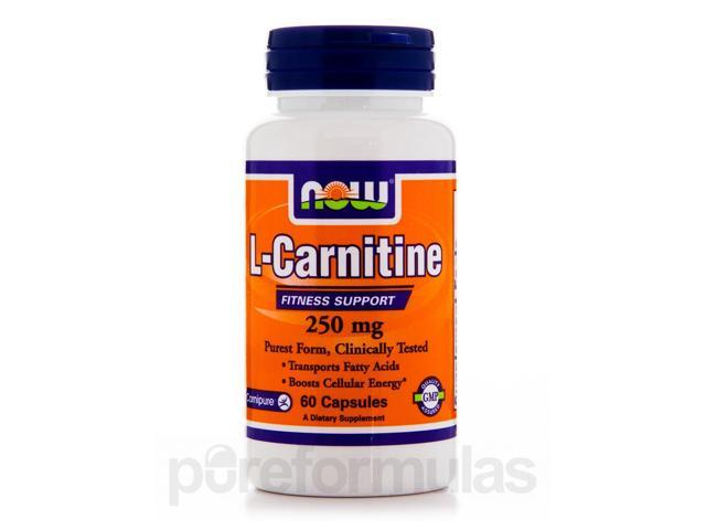 L-Carnitine 250 mg - 60 Capsules by NOW