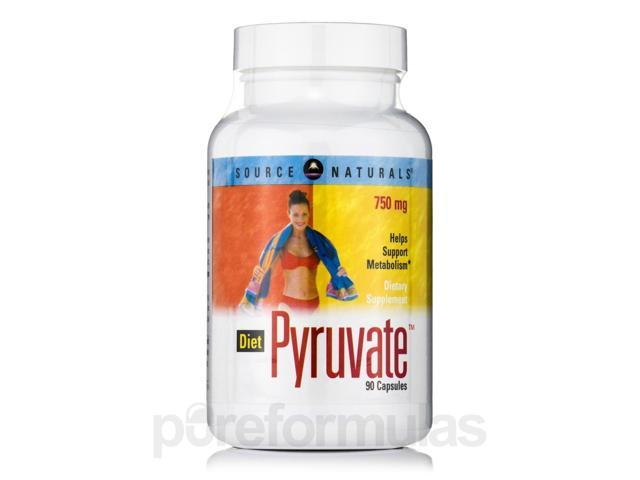 Diet Pyruvate 750 mg - 90 Capsules by Source Naturals