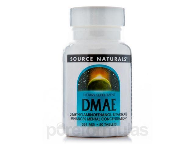 DMAE Tabs 351 mg - 50 Tablets by Source Naturals