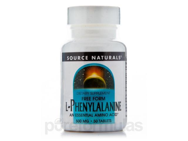 L-Phenylalanine 500 mg - 50 Tablets by Source Naturals
