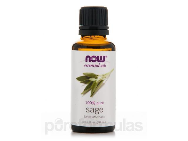 NOW Essential Oils - Sage Oil - 1 fl. oz (30 ml) by NOW