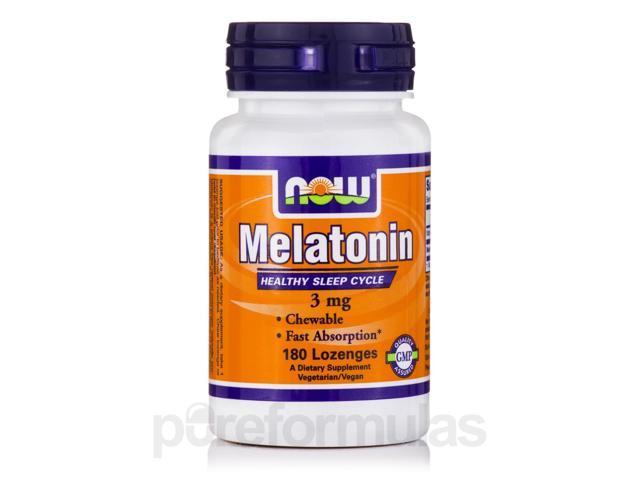 Melatonin 3 mg - 180 Lozenges by NOW