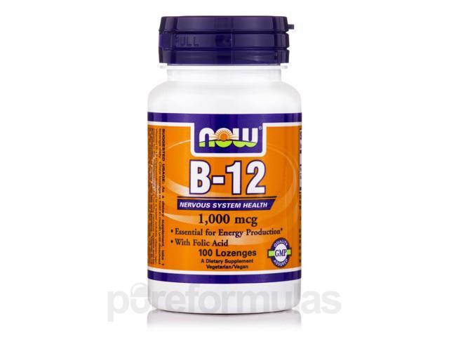 B-12 1000 mcg - 100 Lozenges by NOW