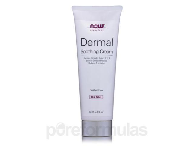 NOW Solutions - Dermal Soothing Cream (with B-12 and Licorice Extract) - 4 fl.