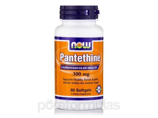 Pantethine 300 mg - 60 Softgels by NOW