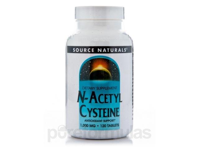 N-Acetyl Cysteine 1000 mg - 120 Tablets by Source Naturals