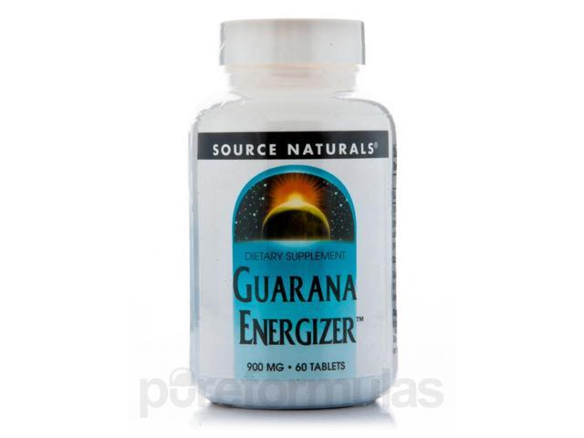 Guarana Energizer 900 mg - 60 Tablets by Source Naturals