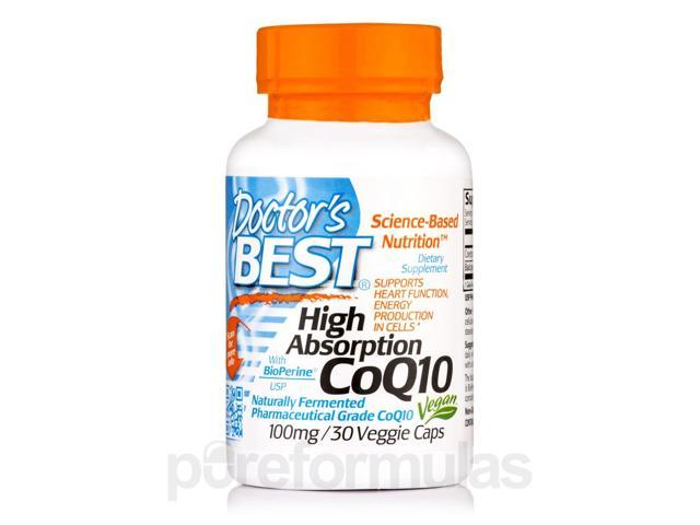 High Absorption CoQ10 with BioPerine? 100 mg - 30 Veggie Capsules by Doctor's Be