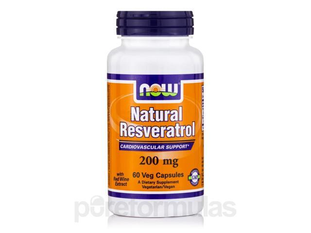 Natural Resveratrol 200 mg - 60 Veg Capsules by NOW