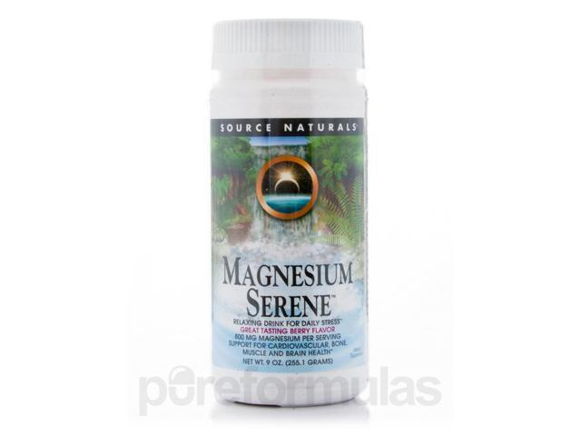 Magnesium Serene Berry - 9 oz (255.1 Grams) by Source Naturals