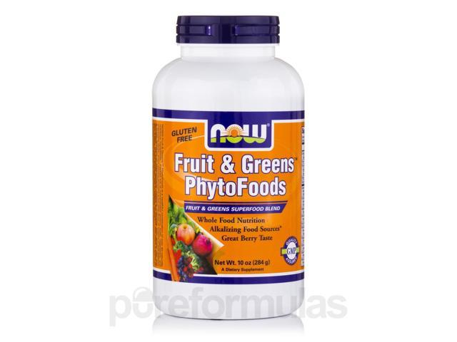 Fruits & Greens PhytoFoods, Berry Flavor - 10 oz (284 Grams) by NOW