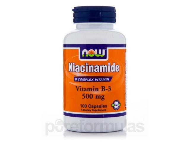 Niacinamide (Vitamin B-3) 500 mg - 100 Capsules by NOW