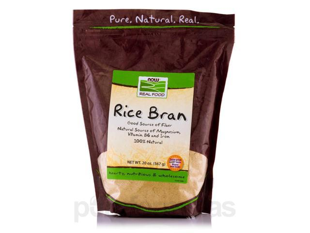 NOW? Real Food - Rice Bran - 20 oz (567 Grams) by NOW