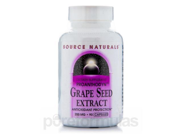 Proanthodyn Grapeseed 200 mg - 90 Capsules by Source Naturals