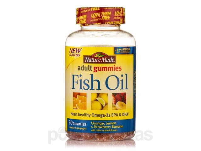 Adult gummies fish oil assorted flavors 90 gummies by for Nature made fish oil gummies
