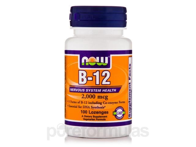 B-12 2000 mcg - 100 Lozenges by NOW