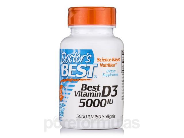 Best Vitamin D3 5000 IU - 180 Softgels by Doctor's Best