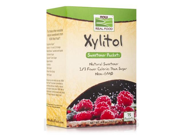 NOW Real Food - Xylitol - Box of 75 Packets by NOW