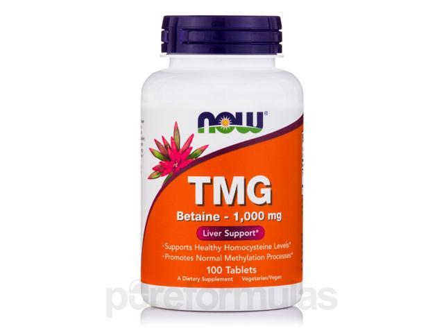TMG Betaine - 1000 mg - 100 Tablets by NOW