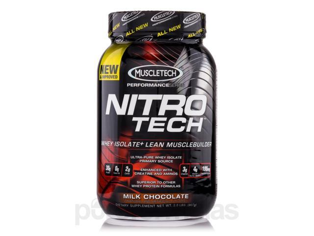Nitro-Tech Performance Series Milk Chocolate - 2.0 lbs (907 Grams) by MuscleTech