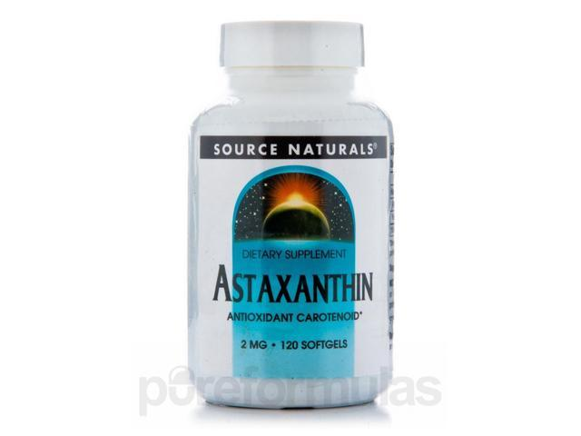 Astaxanthin 2 mg - 120 Softgels by Source Naturals