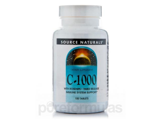 C-1000 Time Release - 100 Tablets by Source Naturals