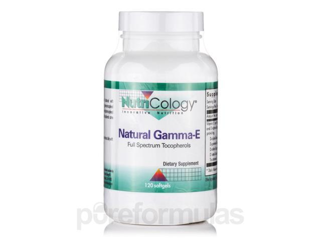 Natural Gamma-E - 120 Softgels by NutriCology
