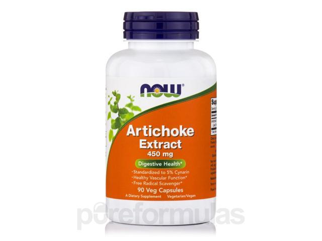Artichoke Extract 450 mg - 90 Vegetarian Capsules by NOW