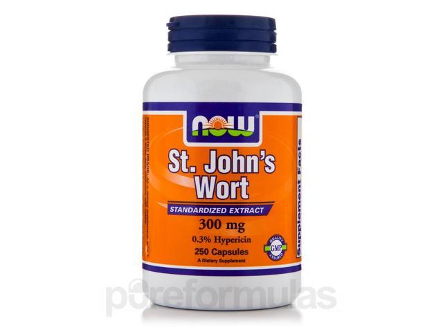 St. John's Wort 300 mg - 250 Capsules by NOW