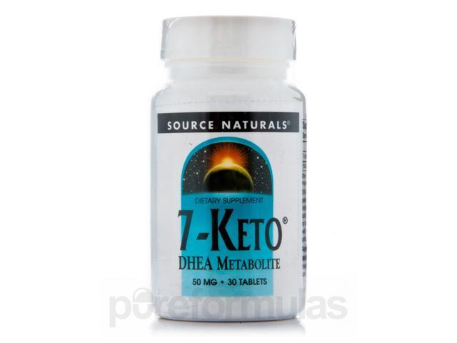 7-Keto DHEA 50 mg - 30 Tablets by Source Naturals